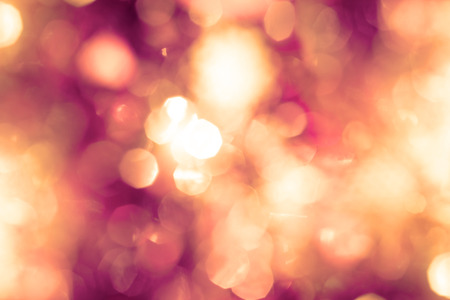 round: the Abstract blur glowing bokeh lighting in night party