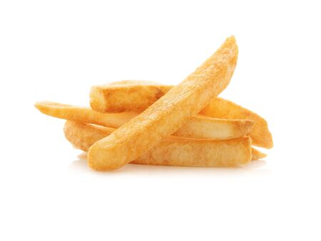 Close up french fries on white background 写真素材