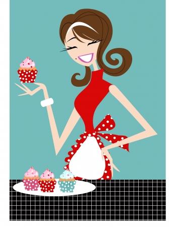 fartuch: Cupcake Dziewczyna