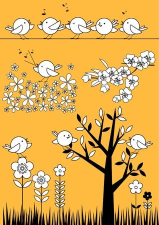 sumer: Spring Summer Birdies Set