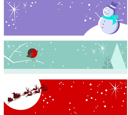 christmas robin: Christmas Banners
