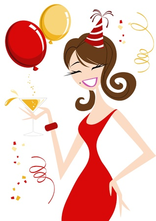 Celebration Girl Stock Vector - 16186397