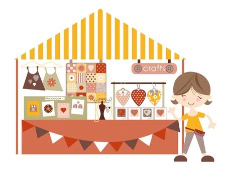 mercado: Mercado Artesanato-Artesanato Feira de Artesanato Pastel colourway