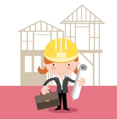 ingenieurs: Vrouw Architect, Landmeter, Project Manager