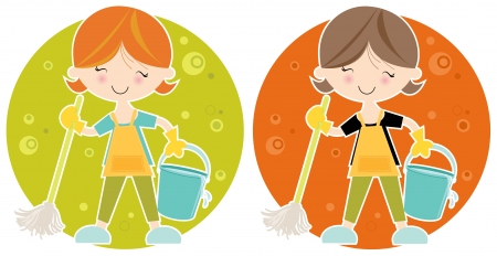 Happy Cleaner Vector