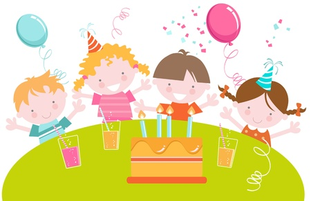 Kids Birthday Party Stock Vector - 16484612