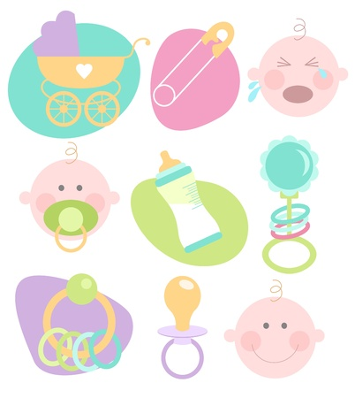 Cute baby icons