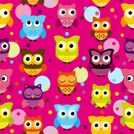 able: Seamless and Tile able Owl Background Pattern Illustration