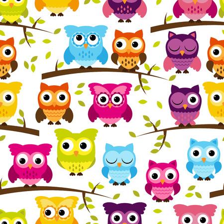 Contexte Owl Seamless et à carreler Banque d'images - 29821787