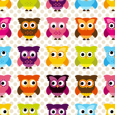 tileable: Seamless and Tileable Owl Background Pattern