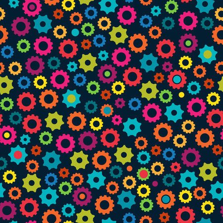tileable: Seamless Tileable Background Pattern with Gears Illustration