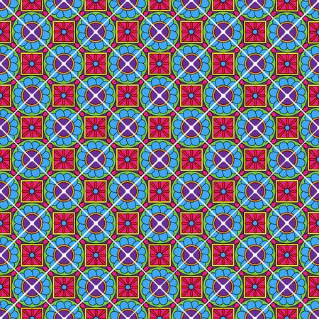 talavera: Seamless Vector Talavera Style Pattern and Background