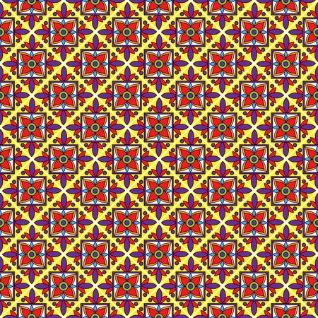kitchen spanish: Seamless Vector Talavera Style Pattern and Background