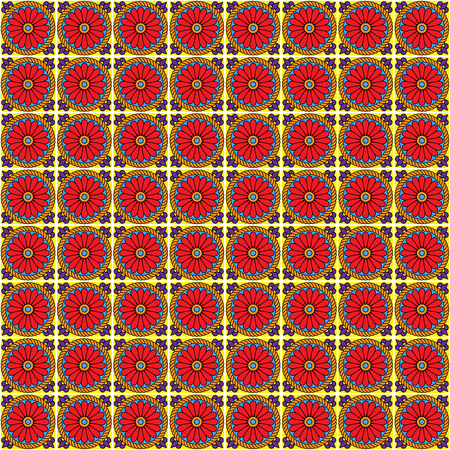 pueblo: Seamless Vector Talavera Style Pattern and Background