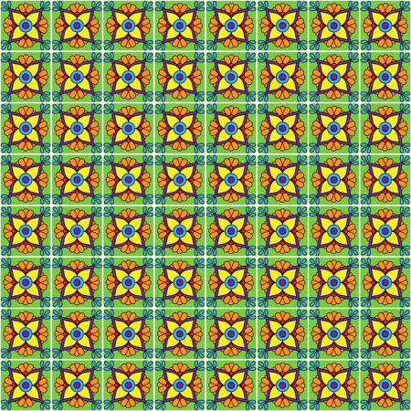 Seamless Vector Talavera Style Pattern and Background  Vector