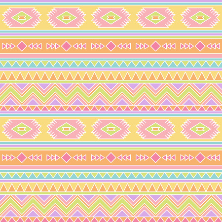 style: Seamless Tileable Vector Background in Pastel Tribal Style