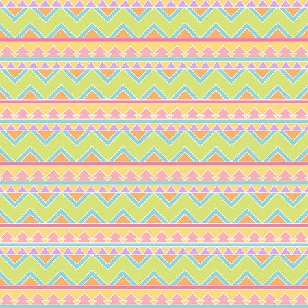 cute border: Seamless Tileable Vector Background in Pastel Tribal Style