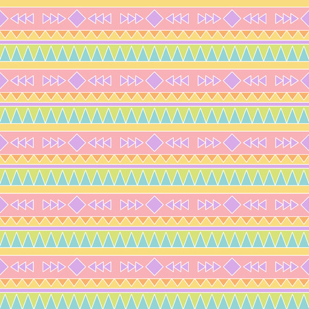 ethno: Seamless Tileable Vector Background in Pastel Tribal Style