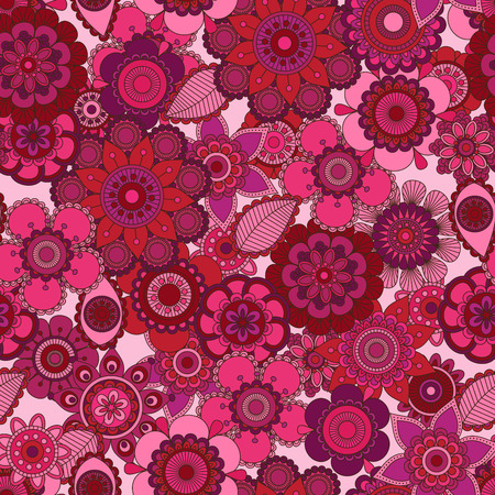 tileable: Seamless Tileable Vector Floral Background