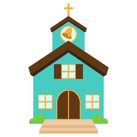 modern buildings: Vector Illustration d'une �glise ou chapelle mignon