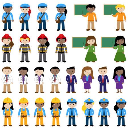 Grote Vector Collectie van Career en Professional Stock Illustratie