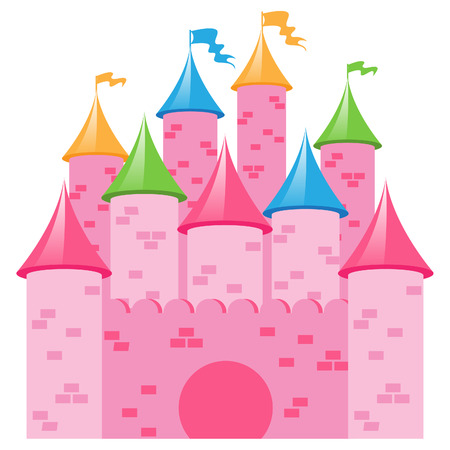 fairytale background: Pink Castle
