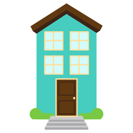 Cute and Colorful Isolated Vector Home  イラスト・ベクター素材