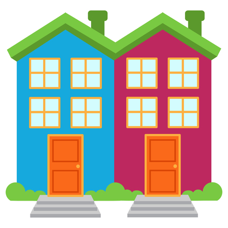 Cute and Colorful Isolated Vector Home Illustration