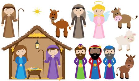 ベクトルのキリスト降誕のコレクション