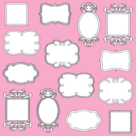 Vector Set of Doodle Frames and Borders Vector