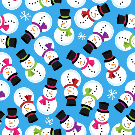 Vector Seamless Tileable Christmas Themed Patterned Background Vector
