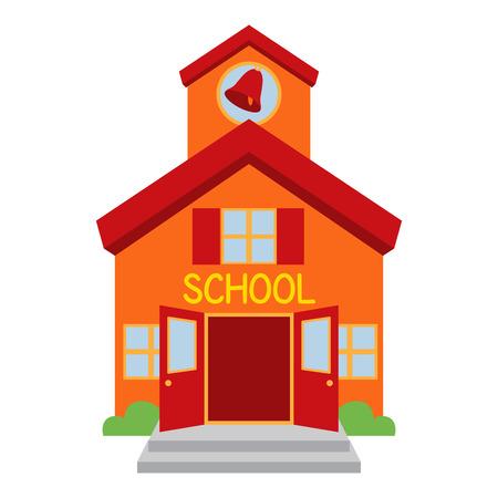 niño escuela: Edificio de la escuela de vectores Vectores