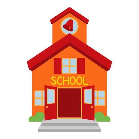 back icon: Vector School Building
