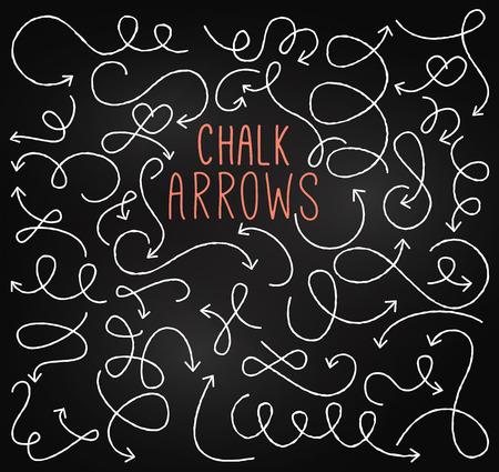Chalkboard Style Doodle Hand Drawn Arrows Vector