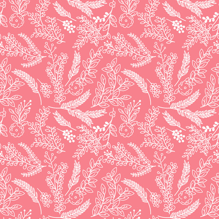 Seamless Tileable Vintage Floral Background Pattern - Vector Illustration Vector
