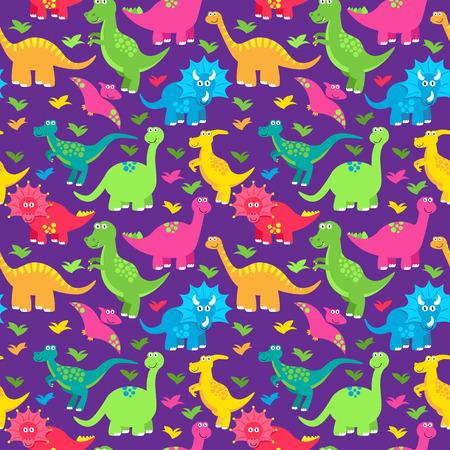 dinosaurus: Dinosaur Seamless Tileable Vector Background Pattern