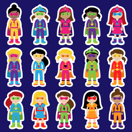diverse group: Collection of Diverse Group of Superhero Girls