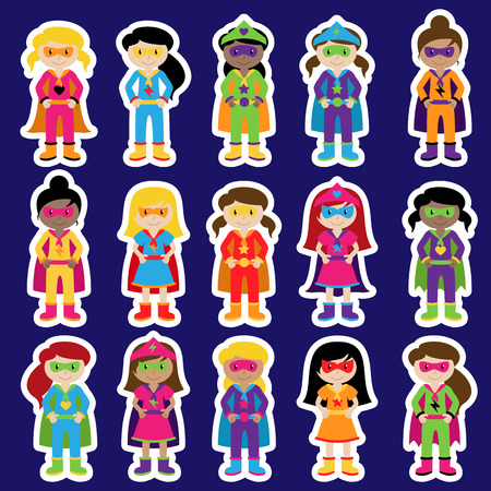 american hero: Collection of Diverse Group of Superhero Girls