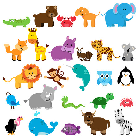cartoon: Vector Collection of Animals Illustration