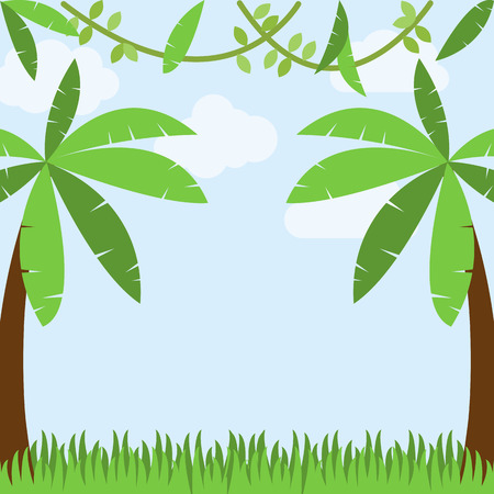 jungle foliage: Safari, Jungle or Zoo Themed Animal Background