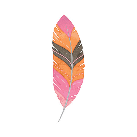 style: Vector Set of Watercolor Style Feathers