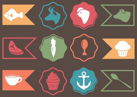 patron: Collection of Culinary, Cooking and Food Related Icons Illustration