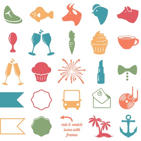 Collection of Wedding and Party Themed Icons