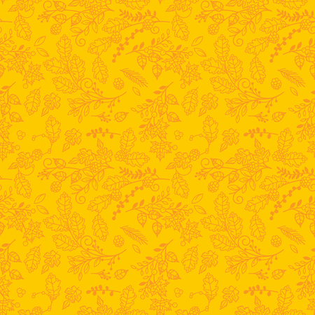 Fall, Autumn or Thanksgiving Vector Flower Pattern - Seamless and Tileable Illusztráció