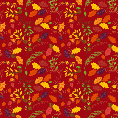 tileable: Fall, Autumn or Thanksgiving Vector Flower Pattern - Seamless and Tileable Illustration