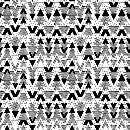 black feathered: Vector Feather and Arrow Background Pattern - Seamless and Tileable Illustration