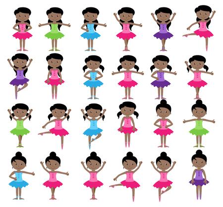 Ballet Colección del vector temático con niñas de diferentes Foto de archivo - 51043477