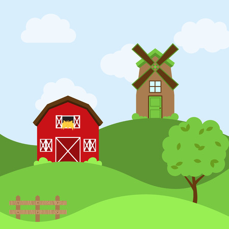Vector Farm Themed Background