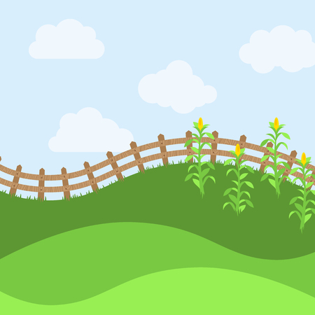 yards: Vector Farm Themed Background