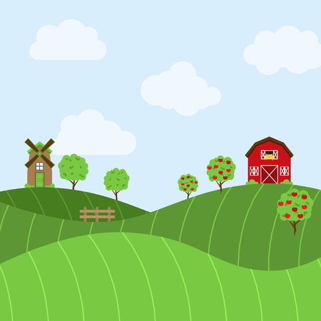 themed: Vector Farm Themed Background